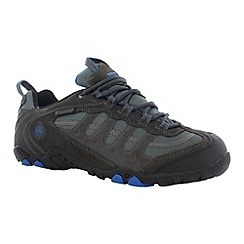 Hi Tec - Charcoal/blue penrith low wp shoes