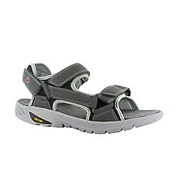 Hi Tec - Charcoal/black/red ranger v-lite walk-lite sandals