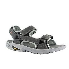 Hi Tec - Charcoal/black/red ranger v-lite walk-lite sandals