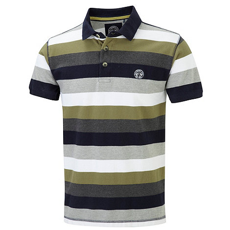 Tog 24 - Light khaki hunt stripe polo shirt