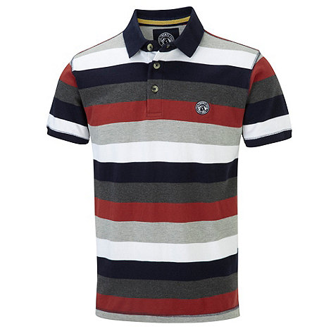 Tog 24 - Rust hunt stripe polo shirt