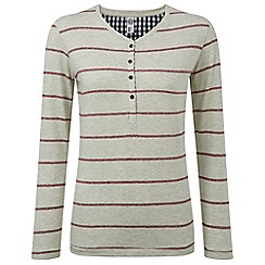 Tog 24 - Oatmeal marl jenna stripe long sleeve t-shirt