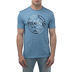 Tog 24 - New blue marl kilter t-shirt mountains print