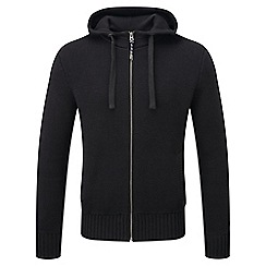 Tog 24 - Black marlin cotton zip hoody