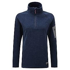 Tog 24 - Navy marl matrix tcz 100 fleece zip neck