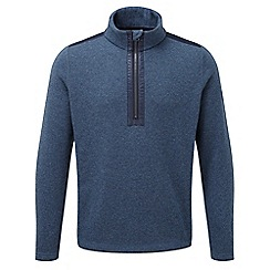 Tog 24 - Navy marl mega tcz wool zip neck