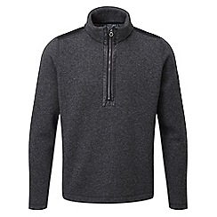 Tog 24 - Dark grey marl mega tcz wool zip neck