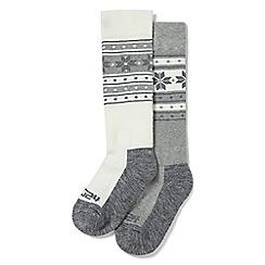 Tog 24 - White and grey flake Maribel 2 pack TCZ thermal ski socks