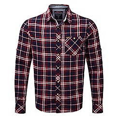 Tog 24 - Navy check neville long sleeve shirt