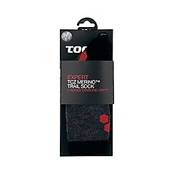 Tog 24 - Black/anth/fire north point merino/diamond dry socks