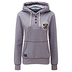 Tog 24 - Plum marl orford button neck hoodie