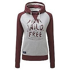 Tog 24 - Grey marl/plum oxford hoodie