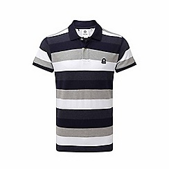 Tog 24 - Navy stripe plain polo shirt