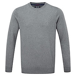 Tog 24 - Dark grey plateau mens cashmere mix jumper