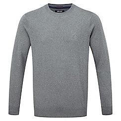 Tog 24 - Dark grey plateau mens cashmere mix jumper