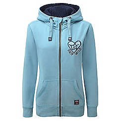 Tog 24 - Ice blue heart sophie deluxe zip hoodie heart