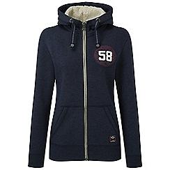Tog 24 - Midnight marl sophie deluxe zip hoodie stamp print
