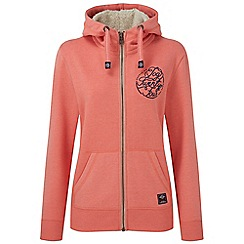 Tog 24 - Coral marl sophie deluxe zip hoodie script print