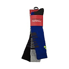 Tog 24 - Navy/royal/grey staffler merino ski sock 3 pack