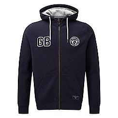 Tog 24 - Navy badge stewart deluxe zip hoodie