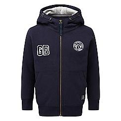 Tog 24 - Navy badge stewart kids deluxe zip hoodie