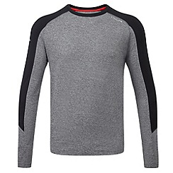 Tog 24 - Grey marl/black stride tcz stretch long sleeve t-shirt