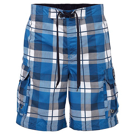 Tog 24 - New blue check tonga swim shorts