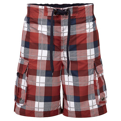 Tog 24 - Rust check tonga swim shorts