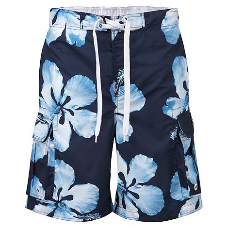Tog 24 - Dark midnight flower tonga swim shorts
