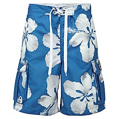 Tog 24 - New blue flower tonga swim shorts