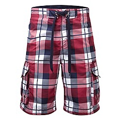 Tog 24 - Rio red check tonga swimshorts