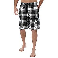 Tog 24 - Black check tonga swimshorts