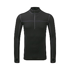 Tog 24 - Black ultra merino zip neck thermal top