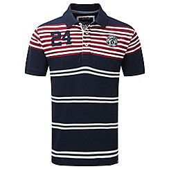 Tog 24 - Dark midnight vaughn stripe deluxe polo