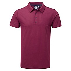 Tog 24 - Red plum stripe volta dri release polo shirt