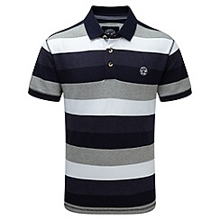 Tog 24 - Dark midnight wells stripe polo shirt