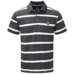 Tog 24 - Dark grey marl wilson stripe polo shirt