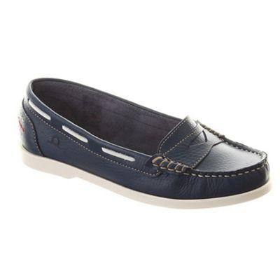 Chatham Navy rita boat shoes - . -