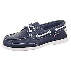 Chatham - Navy chatham 'Crest G2' navy deck shoes