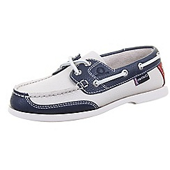 Chatham - Multi coloured chatham 'Crest G2' white/red/navy deck shoes