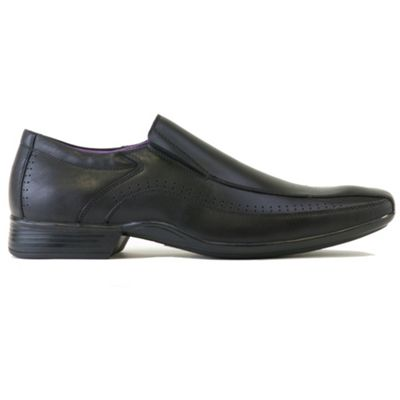Azor Black lewis casual loafer shoes - . -