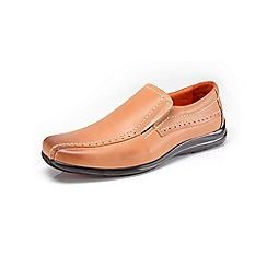 Azor - Light brown pebble casual loafer shoes