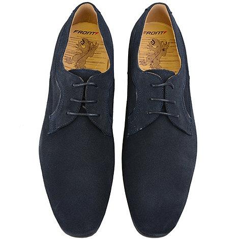 Front - Mens dark blue petro fr6927 fashion lace shoes