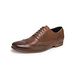 Front - Mens mid brown 'Lagoon' fashion lace shoes
