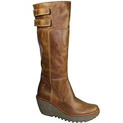 Fly London - Camel yush high boots