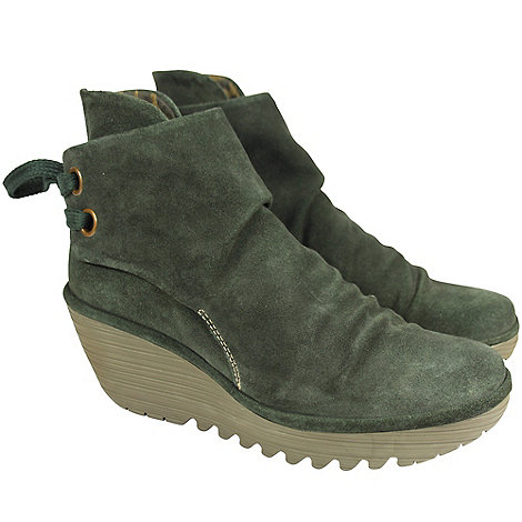 Fly London - Forest green yama casual ankle boots