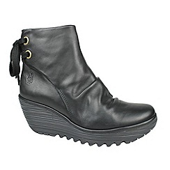 Fly London - Black yama ankle boots