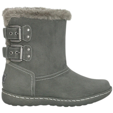 Pixie - Womens grey lucy ankle boots
