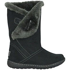 Pixie - Black ellie toggle faux fur mid boots