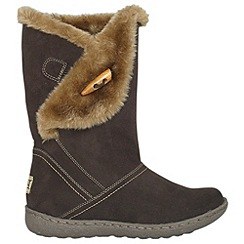 Pixie - Chocolate ellie toggle faux fur mid boots